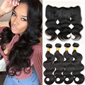 Best Peruvian Virgin Hair Body Wave With Closure 4 Bundles With 13X4 Full Lace Frontals Vishine Hair With Lace Frontal Closure