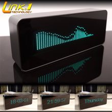 LINK1 7115 VFD Music Audio Spectrum Indicator /VU Meter /Precision Clock/ /Adjustable AGC Mode with the remote control(China)