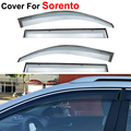 4pcs/lot Window Visors For KIA Sorento 2009 2010 2011 2012 2013 2014 Sun Rain Shield Covers Car Stylingg Awnings Shelter