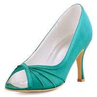 New Woman Wedding Bridal Shoes 2016 HP1562 High Heel Shoes Ivory Blue Women S Prom Shoes
