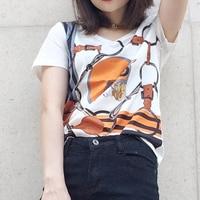 Ky Q 2017 Summer Harajuku Bts Sweet Female T Shirt Short Sleeve O Neck Horse Print