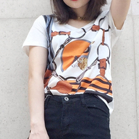 Ky Q 2017 Summer Harajuku Bts Sweet Female T Shirt Short Sleeve O Neck Horse Print
