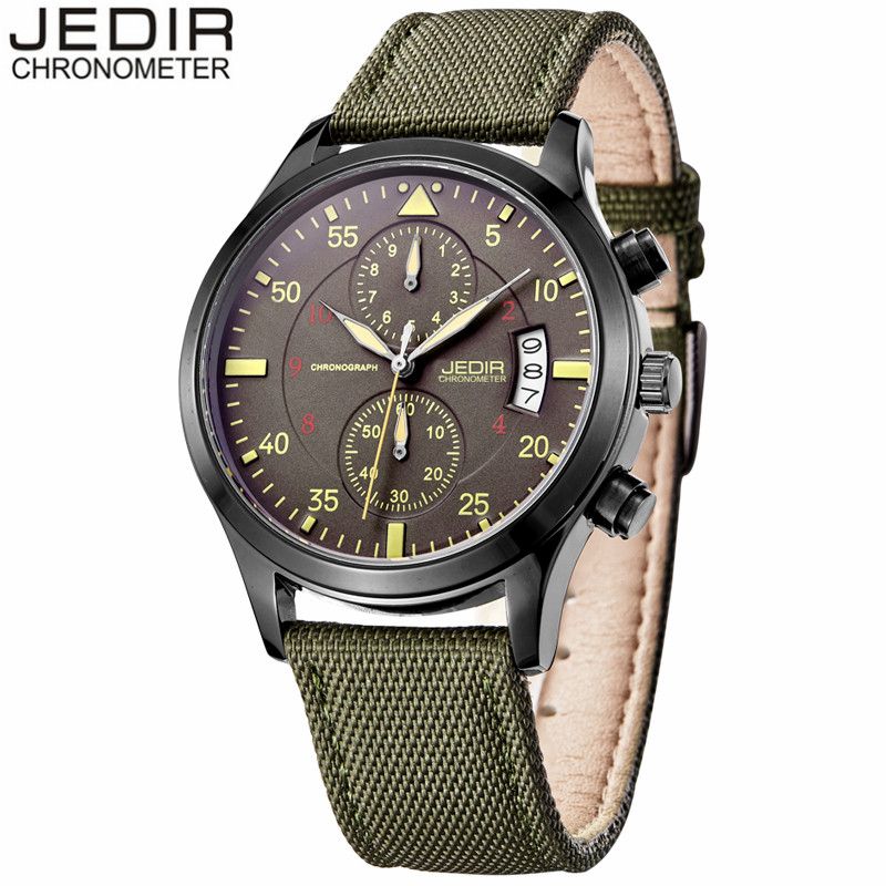JEDIR Watches Men Luxury Brand Quartz Watch Fashion Chronograph Date Sport Reloj Hombre Clock Male hour relogio Masculino 2021 reef tiger brand men s luxury swiss sport watches silicone quartz super grand chronograph super bright watch relogio masculino