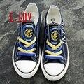 Sapatas de lona de impressão do logotipo para a Inter de Milão clube de fãs do Estilo do Jérsei Coque duro Tampa Da Caixa Branca para raffiti homens sapatos casuais meninos