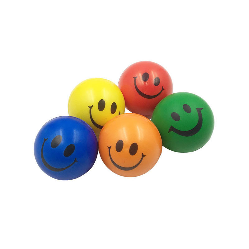 Toys & Hobbies Antistress Ball Face Squeeze Stress Emotional Exercise Stress Pu Foam Balls Funny Toys For Children 6pcs 6.3cm Orange,red,yellow Outdoor Fun & Sports