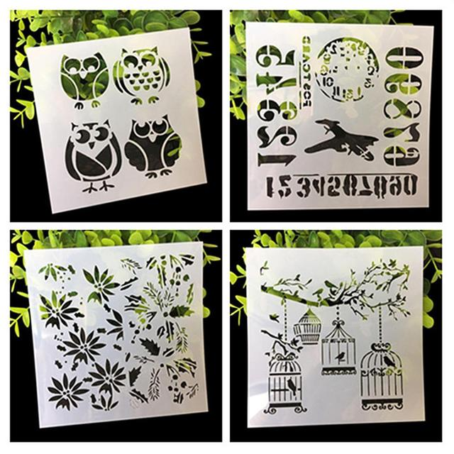 4 Pcs Cutout Painting Template Graffiti Decoration Diy Photo Album