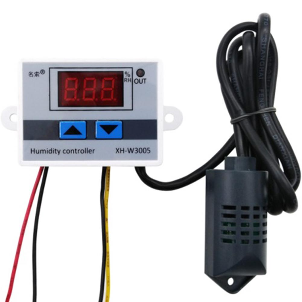 110V-220V Digital Humidity Controller Instrument Humidity Control Switch 0~99%RH Hygrostat Hygrometer Humidity Sensor