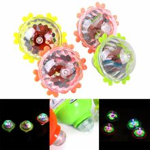 1 Pcs Flash Color Led Música Brinquedo Giroscópio Peg-Top Spinner Spinning Brinquedos Clássicos Toy Kids(China)