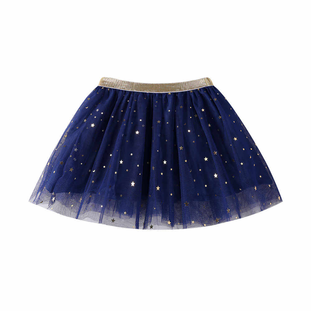 Kids Baby Star Glitter Dance Tutu Skirt For Girl Sequin 3 Layers Tulle Toddler Pettiskirt Children Chiffon  Skirt 3-7T 1D13