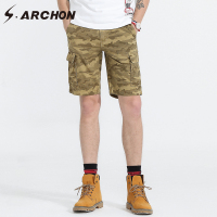S.ARCHON New Summer Men Shorts Pants Camouflage Army Military Cargo Pants Thin Loose Fashion Style Casual Shorts Male Trousers