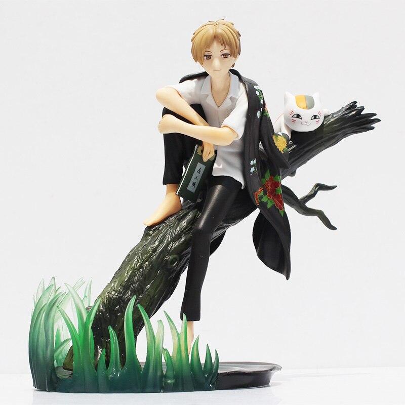 Anime Natsume Yuujinchou With Nyanko Sensei PVC Action Figure Model Toys 18cm Box Packaged 18cm japanese anime natsume yuujinchou takashi natsume with nyanko sensei pvc action figure model collection toy gift