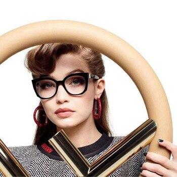 ac164072a5 Gafas ópticas de diseñador para mujer, gafas de acetato con prescripción, gafas  para mujer, montura, estilos de moda
