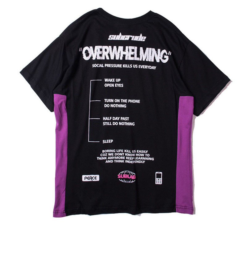 Funny Aesthetic Overwhelming Print Cotton T Shirt for Men Urban Boys Street Wear Hiphop Graphic Short Sleeve Tee Oversized S-XXL 20
