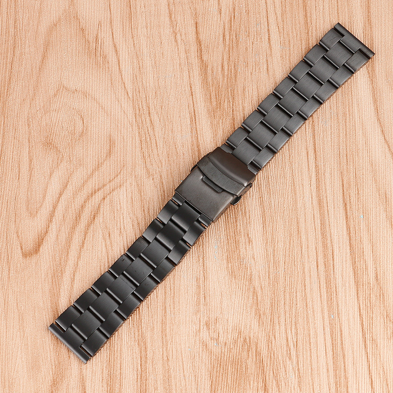 Superb 20/22mm Black Stainless Steel Watchbands Polished Replacement for Men Solid Link Bracelet Watch Band Strap Metal Bracelet