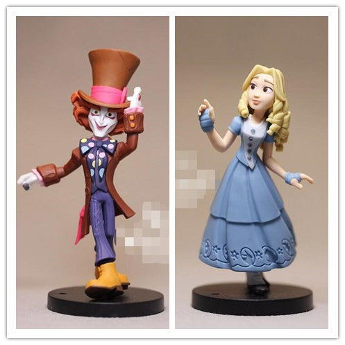 1pcs 9cm Alice In Wonderland Action Figures Mad Hatter Alice Doll Collection Figure Toy Loose Toy for kids Gifts alice q posket characters alice alice in wonderland pvc figure collectible model toy doll 15cm