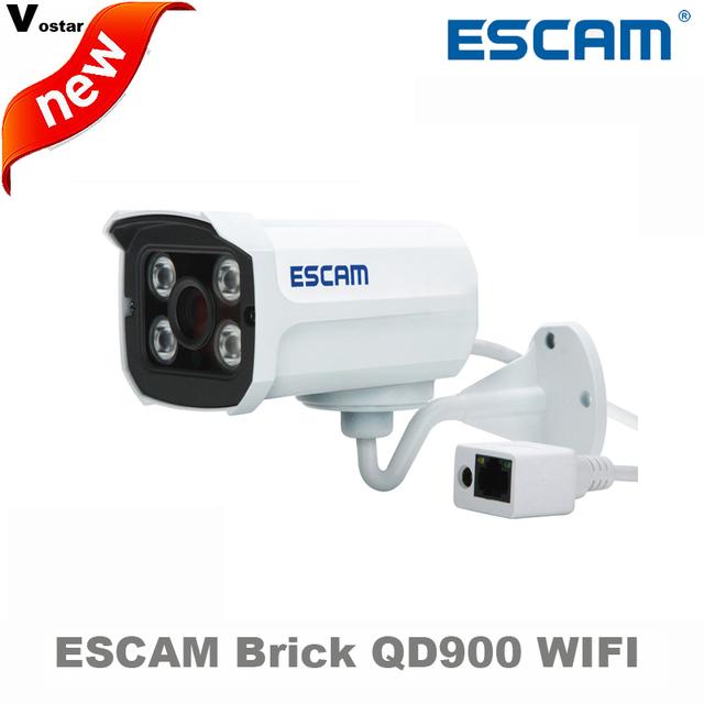 Tijolo escam qd900 wifi 2 mp full hd rede ir-bala câmera dia/Noite IP66 onvif 2.2 1080 p 3.6mm Lente fixa ip sem fio da câmera