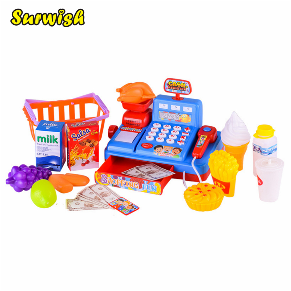 Emulational Supermarket Cash Register Cashier Children Early