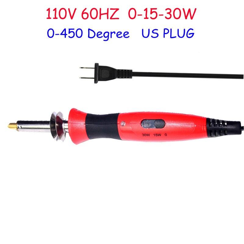 Купить с кэшбэком 110V  0-15-30W US PLUG Hobbycraft Pyrography Wood Burning pen set Adjustable Temperature Pyrography Tool