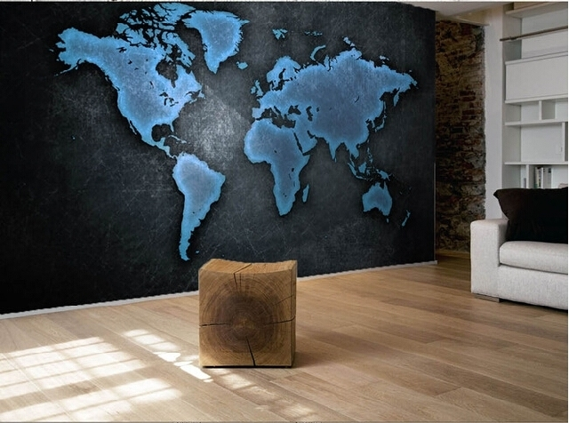 Custom world map wallpaper mural black textured wallpaper world map custom world map wallpaper mural black textured wallpaper world map hotel office background wall large mural wallpaper in wallpapers from home improvement gumiabroncs Image collections