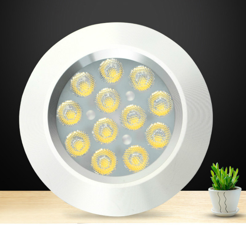 цена на 3/4/6/8 LED Under Cabinet Light Round 12V LEDs Wardrobe Bar Lamp Night Lamps Home Decoration Wardrobe Indoor Kitchen Lighting