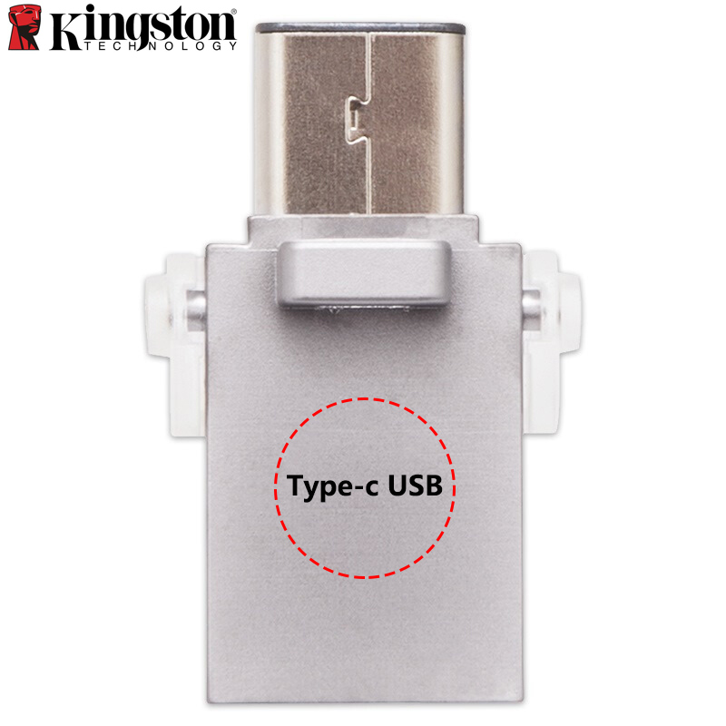 Kingston MINI USB Flash Drive 128GB 64GB 32GB USB 3.1 Type-C Pem Drive For Smartphones&Tablets Cle USB Memory Stick 2in1 USB