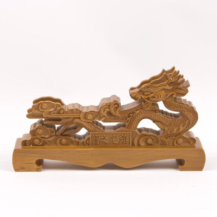 Wood Dragon Samurai Sword Katana Wakizashi Tanto Holder Stand Display Rack Brown