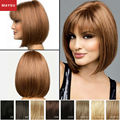 Prevailing MAYSU Short Human Hair Wigs For Women Middle Parting Mono Top Brazilian Virgin Hair Blonde wig Capless European Style
