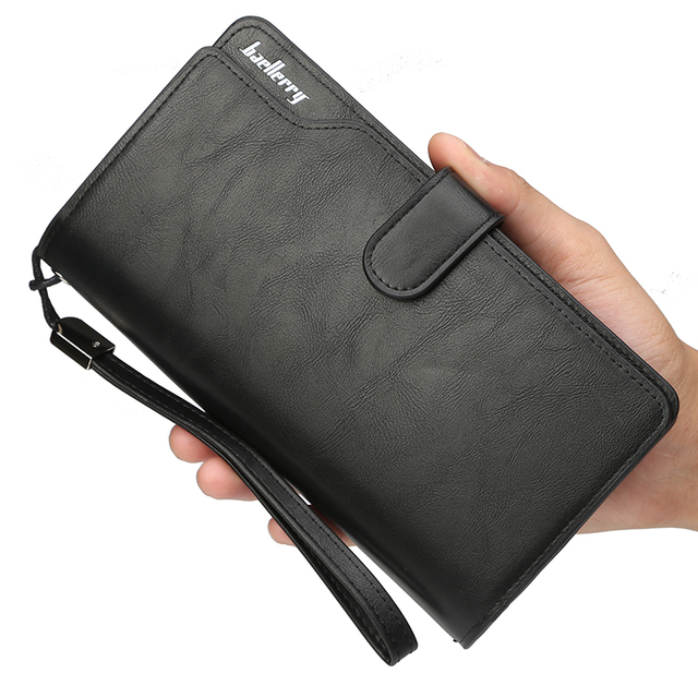 Luxury Brand Men Wallets Long Men Purse Wallet Large Capacity PU Leather Cell Phone Pocket Coin Purses Male Clutch Bag Money Bag