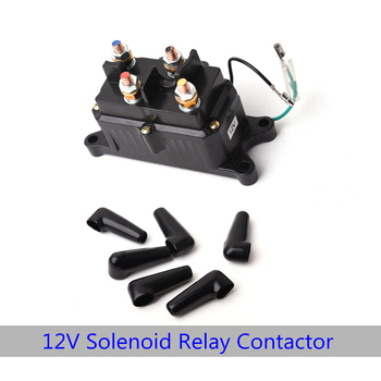 12 V 250A Contactor รีเลย์ Winch คอนแทคไฟฟ้า Winch Solenoid รีเลย์สวิทช์เปลี่ยนสำหรับ ATV UTV รถบรรทุก