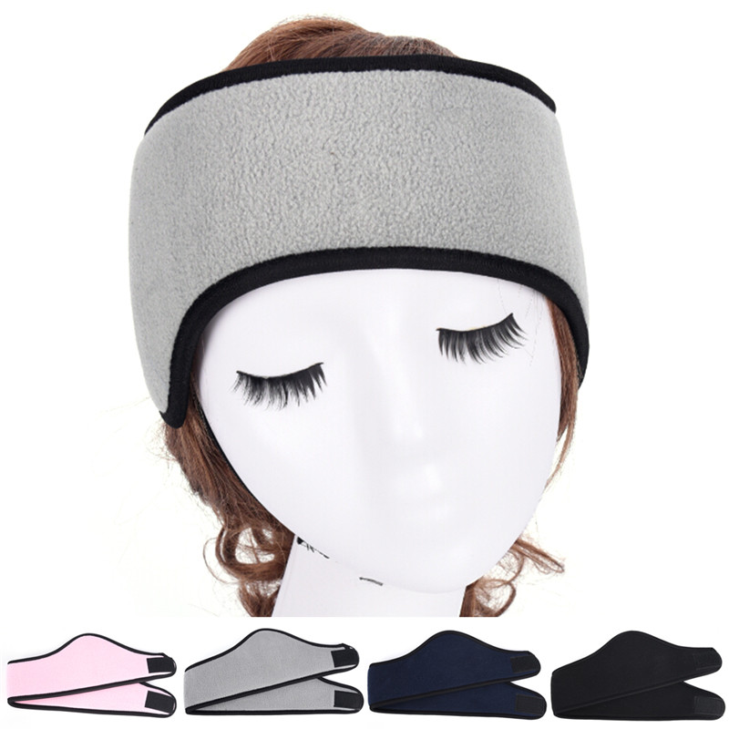 1PCS Winter Head Band Ear Warmer Protective Polar Fleece Ear Muff Unisex Stretch Spandex 4 Colors