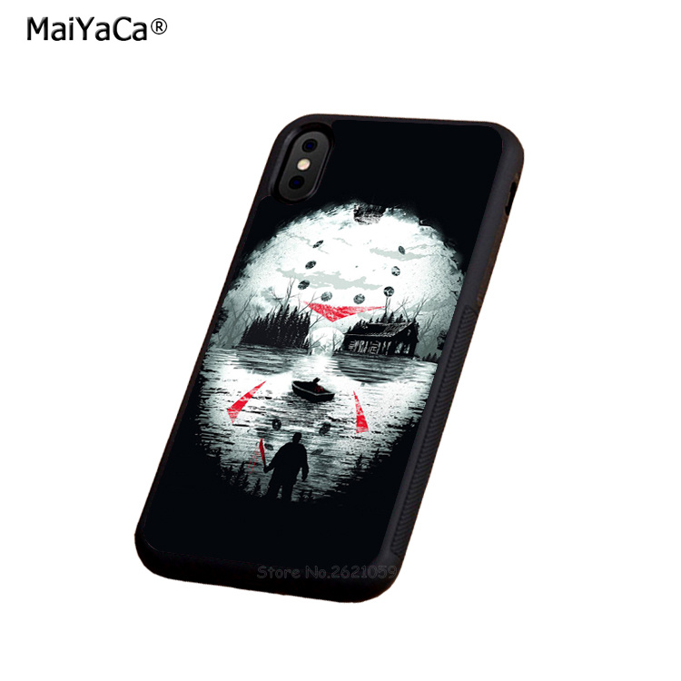 michael myers halloween silicone soft edge hard back phone case for iphone x 5s se 6 6s plus 7 7plus 8 8plus rubber cover case