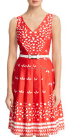 New Holly Eyelet Day Dress Sexy V Neck Party Dresses With Belt 7355
