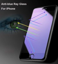 Full Cover Anti Blue light Carbon Fiber 3D Tempered Glass On The For iPhone X Xs Max XR 8 7 6S 6 plus 5S 5C(China)