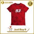 2017 nueva moda de verano moto gp 93 marc márquez camiseta los hombres de La Motocicleta de Manga Corta T-shirt Camisetas Casual red plus size S-XL