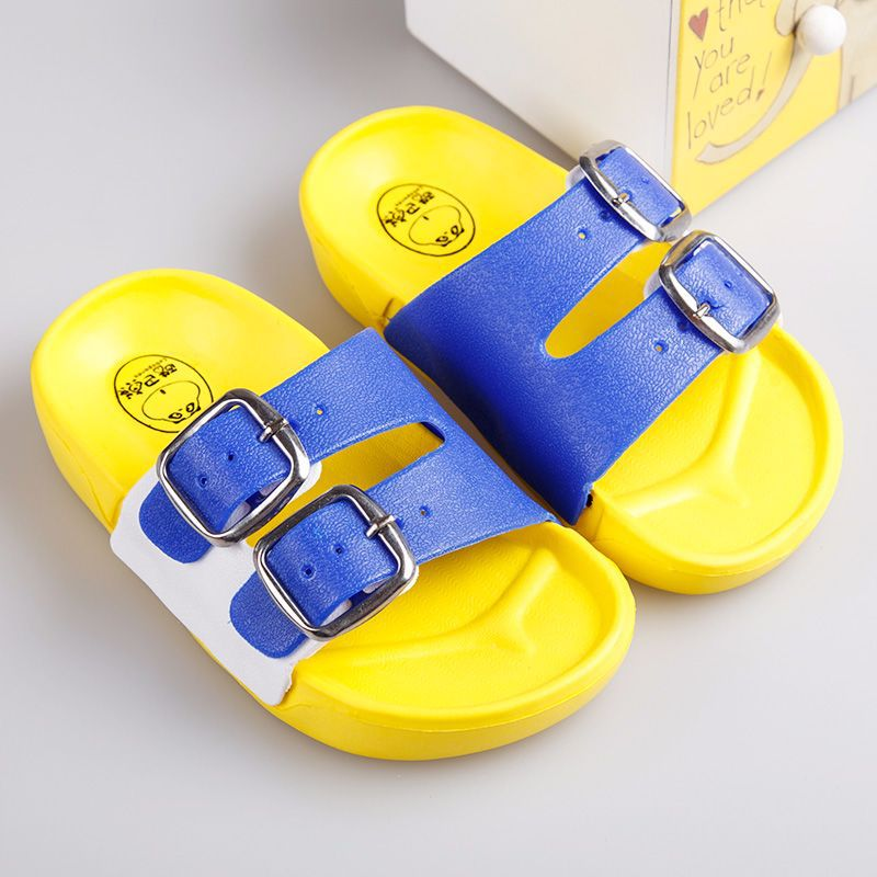 Summer Slippers Kids Girls Boys Beach Sandals Children Bath Home Shoes Baby Flip Flop Casual Non-slip Flat Shoes Mixed Colors