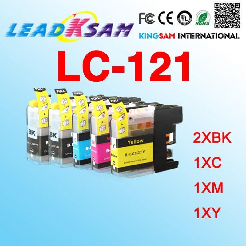 5x совместимый картридж с чернилами LC121 LC 121 LC-121 для DCP-J172W MFC-J470DW/J650DW DCP-J552DW DCP-J752DW DCP-J132W