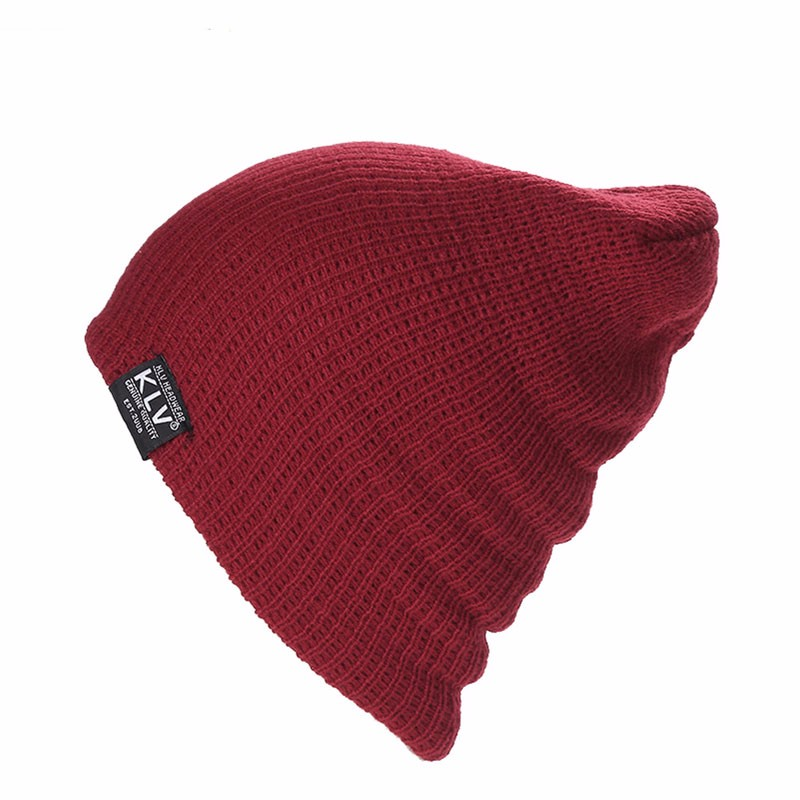 fa8b753a9df KLV Women Winter Skull Men Knit Beanie Baggy Woolen Cap Winter Warm Unisex  Chic Hat-in Skullies   Beanies from Apparel Accessories on Aliexpress.com  ...