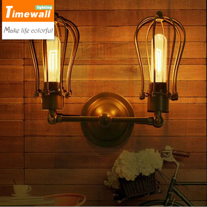 American country industrial retro bar cafe wall lamp wall lamp iron double balcony aisle american country industrial retro bar cafe wall lamp wall lamp iron double balcony aisle