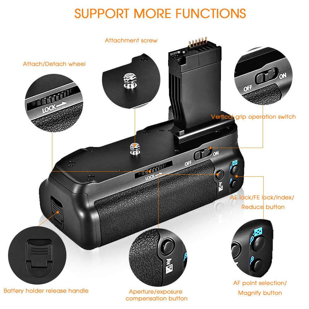 Travor Камера вертикальный Батарейная ручка держатель для Canon DSLR 750D T6i 760D T6s X8i 8000D EOS рукоятка аккумулятора заменить BG-E18