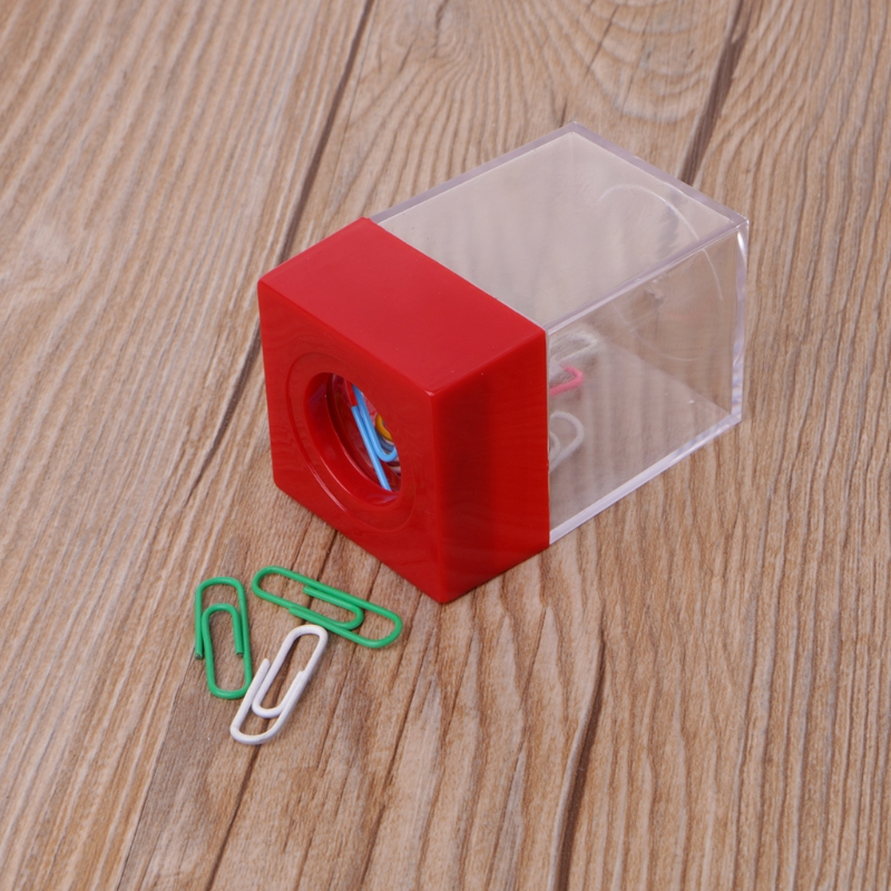 1Pc Magnetic Clip Dispenser Paper Holder Square Box Case Random Color