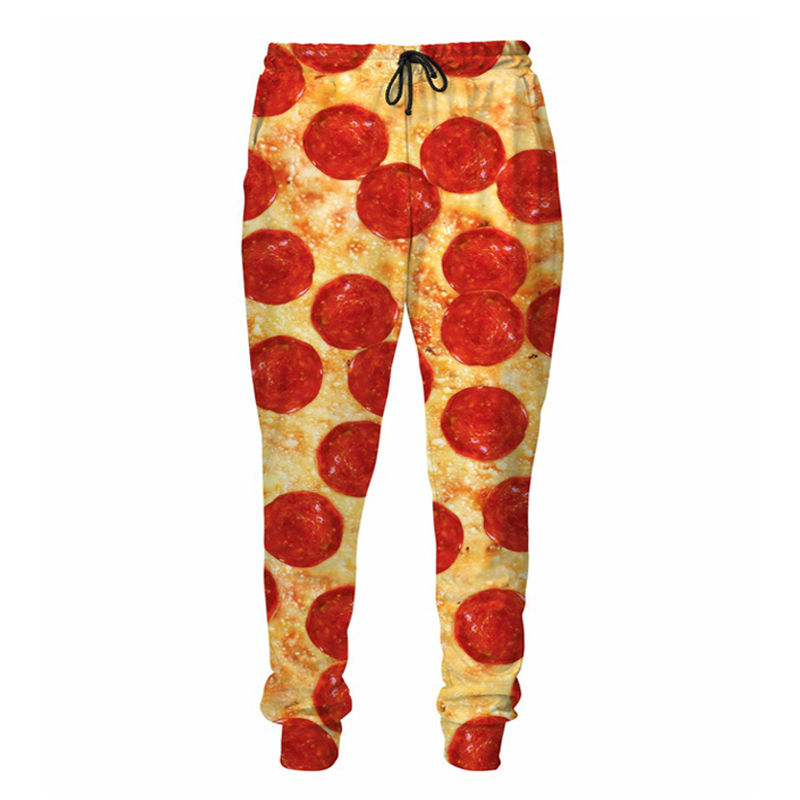 Pizza With Bacon Pepperoni Sweatpants 3D Printed Joggers Men/Women Plus Size Fall Style Pants Casual Trousers
