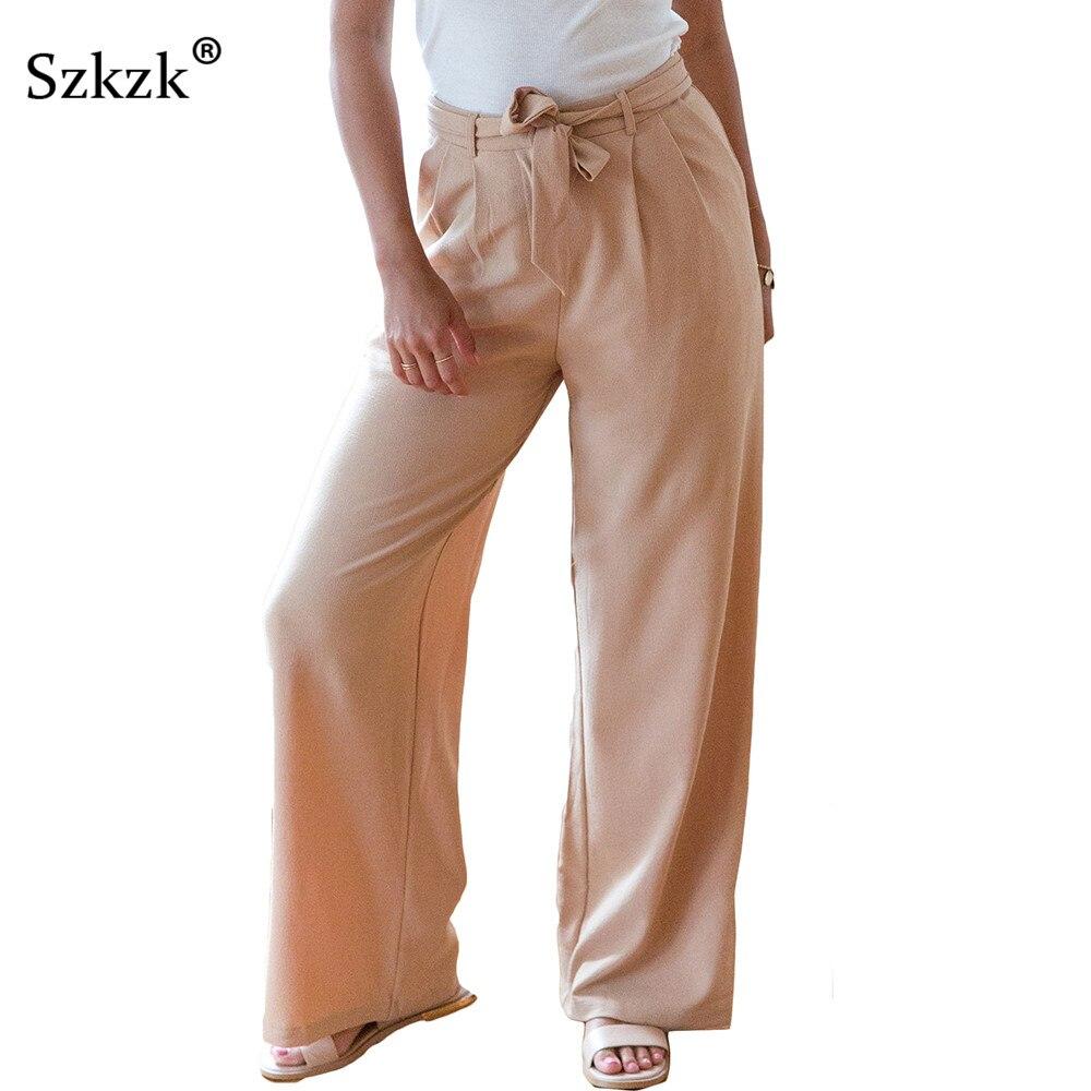Liooil 2018 moda verano sólido pantalones casuales cremallera fajas - Ropa de mujer