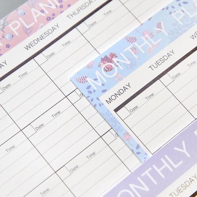 2019 2020 Notebook kawaii Daily Weekly Monthly Yearly Calendar Planner Agenda Schedule organizer journal book school A4 Flower 3