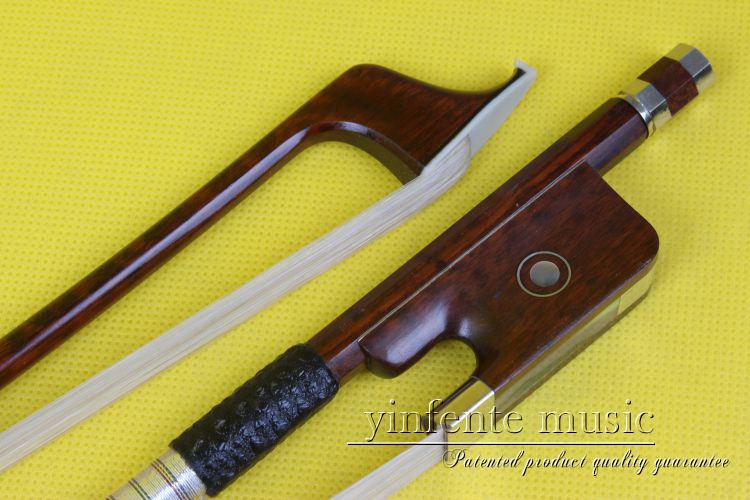 One cello bow Snakewood Round Stick French Style Parisian Eyes 4/4 New