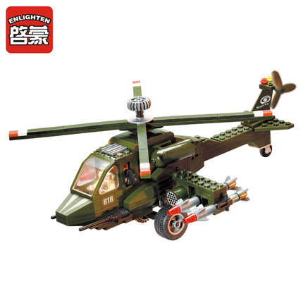 Enlighten Models Building toy Compatible with Lego E818 275pcs Helicopter Blocks Toys Hobbies For Boys Girls Model Building Kits