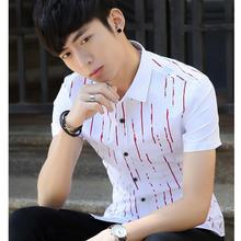 M-3XL!!! Mens Shirts Short Sleeve Summer The New 2016 Men's Fashion Temperament Contracted Leisure Fancy Short Sleeve Shirts Men