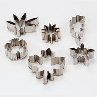 New Design Flowers And Leaves Cookie Cutter Set Cake Decorating Tools