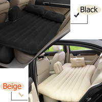 Car Travel Bed Camping Inflatable Sofa Automotive Air Mattress Rear Seat Rest Cushion Rest Sleeping pad With pump Accessories