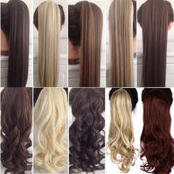 """S-noilite 23 """"длинный кудрявый зажим в хвосте волос накладные волосы конский хвост шиньон с заколками синтетические волосы конский хвост"""