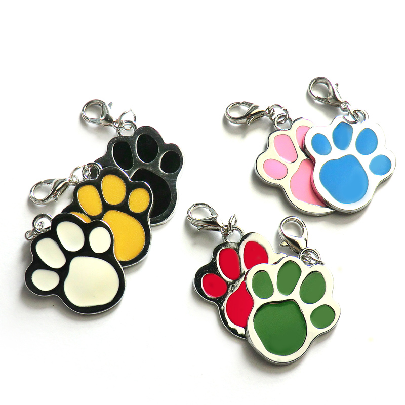 Wholesale 100pcs Customized Dog Tag Personalized Engraved Dogs Cat ID Tags Pet Collar Pendant For Kitten